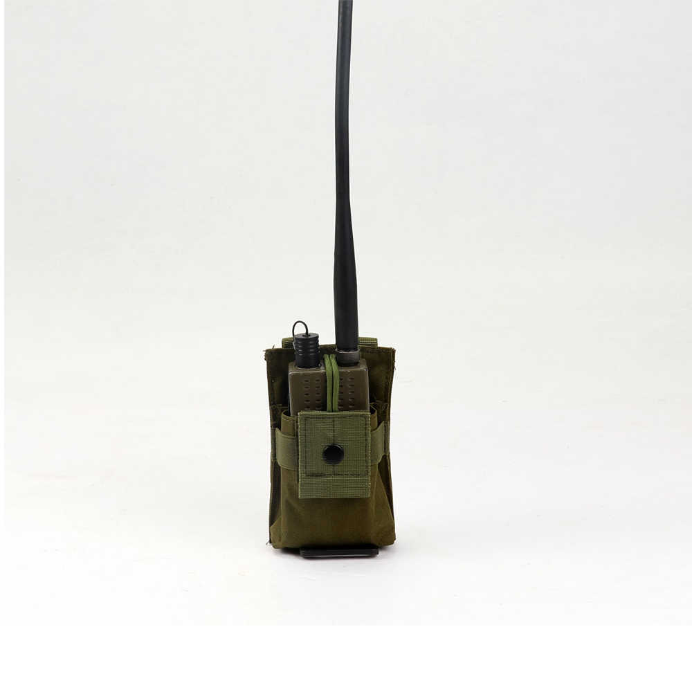 Funda táctica para Radio, funda para Walkie Talkie, bolsa Molle ajustable, bolsa para Airsoft con tapa abierta para revista M4 Mag