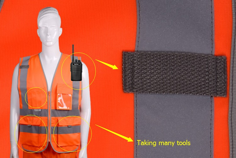 2018 Sale New Vest Material Visibility Security Safety Vest Jacket Reflective Strips Work Wear Uniforms Clothing 19