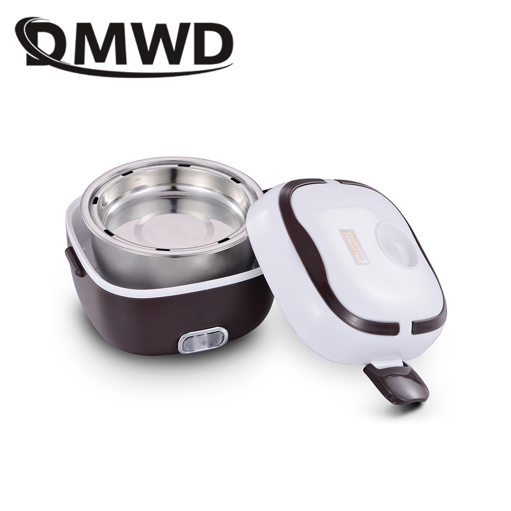 DMWD MINI Rice Cooker Electric Lunch Box Double layers Insulation Heating Container Multifunction Automatic Food Cooking Steamer dmwd mini rice cooker insulation heating electric lunch box 2 layers portable steamer multifunction automatic food container eu