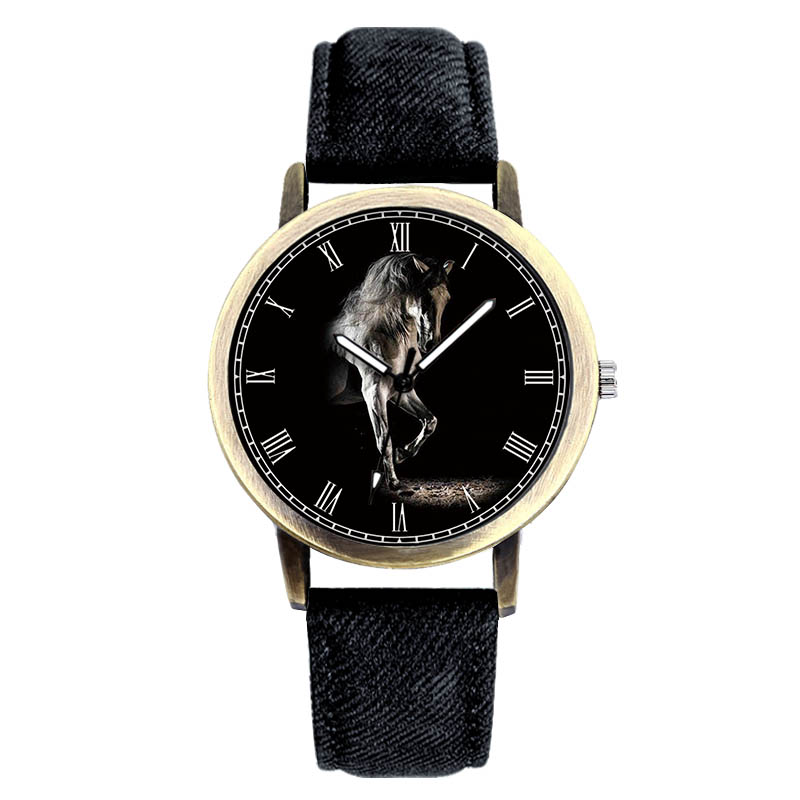 E-0025 BAOSAILI Classic Charm Gentleman Mens Watch Horse Luxury Masculino Male Clock Vintage Brand Quartz Watch