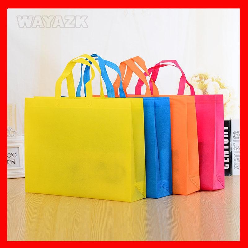 (100 pcs/lot) sac à provisions réutilisable-in Shopping Sacs from Baggages et sacs    1