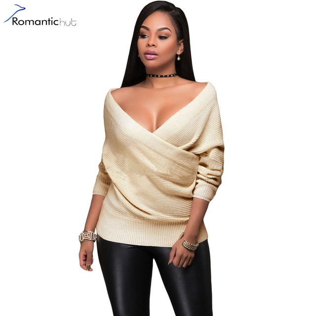 51cca19c40 Europe Wrap Front Sexy Ribbed Long Sleeve Sweater Women Sweater New Casual  Winter 2017 Spring Pullover