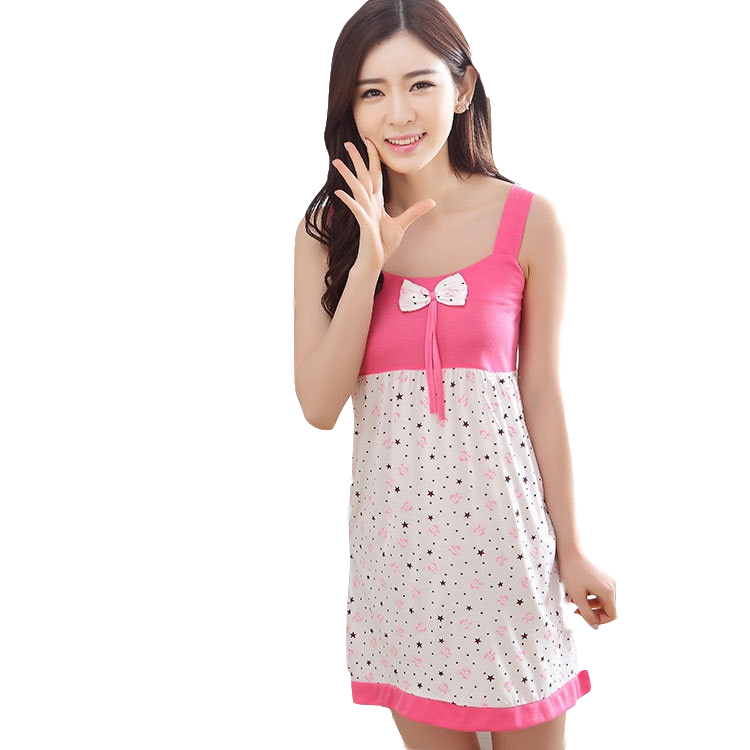 2018 Rayon Silk women's Sleepwear Spaghetti Strap Slim Waist Sexy   Nightgown   Loungewear Lace   Sleepshirt   Sleepwear