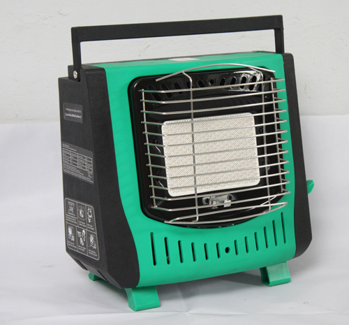 green color portable gas heater for camping fishing