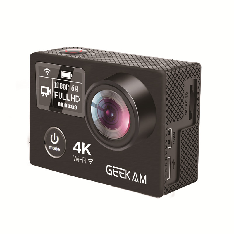 Action Camera GEEKAM K8 Ultra HD 4K WIFI Sport 360VR K8 1080P Dual 2 LCD 170D Wide-angle Waterproof Helmet Cam MINI Camcorder dual screen lcd ultra hd wifi sports action waterproof camera 4k 25fps 12mp