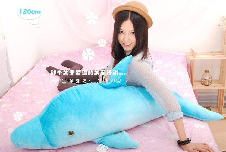 big size lovely plush dolphin toy stuffed huge blue dolphin pillow birthday gift toy about 120cm 0192 lovely giant panda about 70cm plush toy t shirt dress panda doll soft throw pillow christmas birthday gift x023