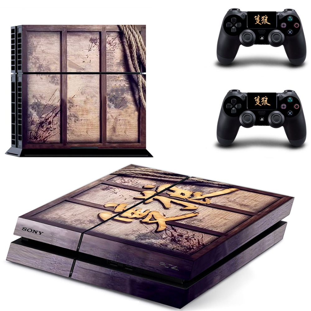 Sekiro Shadows Die Twice PS4 Skin Sticker Decal For PlayStation 4 Console and 2 Controllers PS4 Skin Vinyl StickersSekiro Shadows Die Twice PS4 Skin Sticker Decal For PlayStation 4 Console and 2 Controllers PS4 Skin Vinyl Stickers