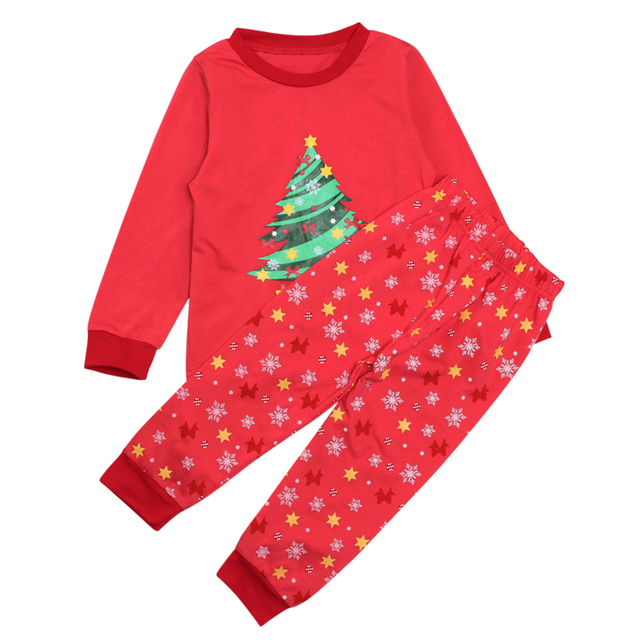 Kids Boys Christmas Tree Pajamas Toddler Sleepwear Clothes Set Infant  Children 2019 New Year Pajamas For Girls Christmas Pyjamas b64ee753e