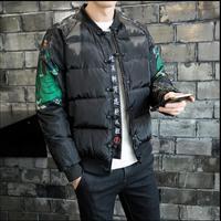 M-5XL NOUVEAU plus taille vêtements hommes mode Hiver Chine style coton épais rembourré veste couples manteau col montant impression veste
