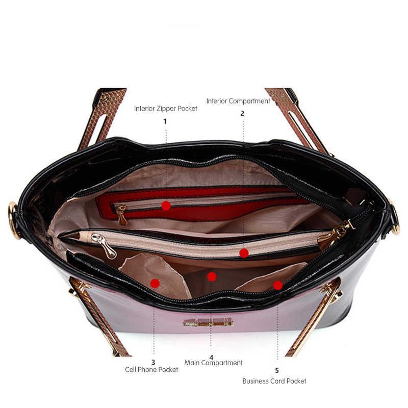 d03dc745fc ... 2018 New Women Patent Leather Handbags Designer High Quality Women  Messenger Bag Luxury Ladies Shoulder Bag