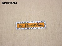 80 Custom Labels Custom Clothing Labels Name Tags Diamond And Crown White Organic Cotton Iron TB043