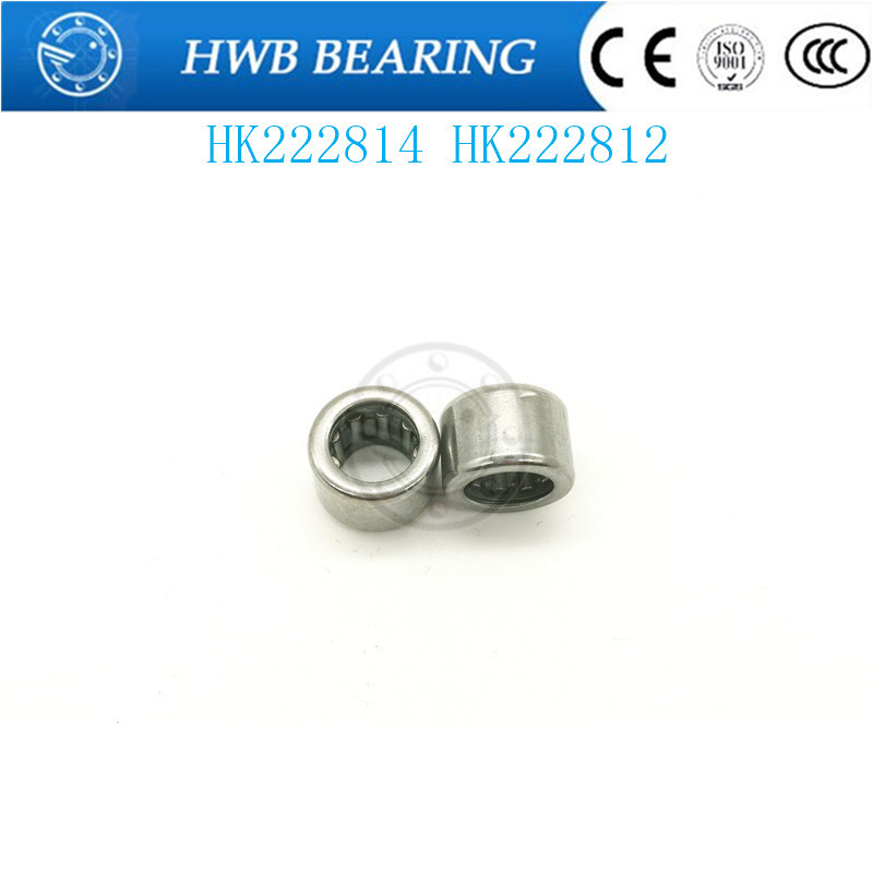 High quality HK222814 HK222812  needle roller bearing Drawn cup Needle roller bearings 22X28X14mm 22X28X12mm free shipping drawn cup needle roller bearing hk1718 hk0709 hk2220 hk0812 ta1729 hk0612 hk1008 hk1812 hk1010 hk1212