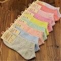 5 Пар/лот Девушки Женщин Хлопчатобумажные Носки Конфеты цветов, носки Чистый Цвет Горячей