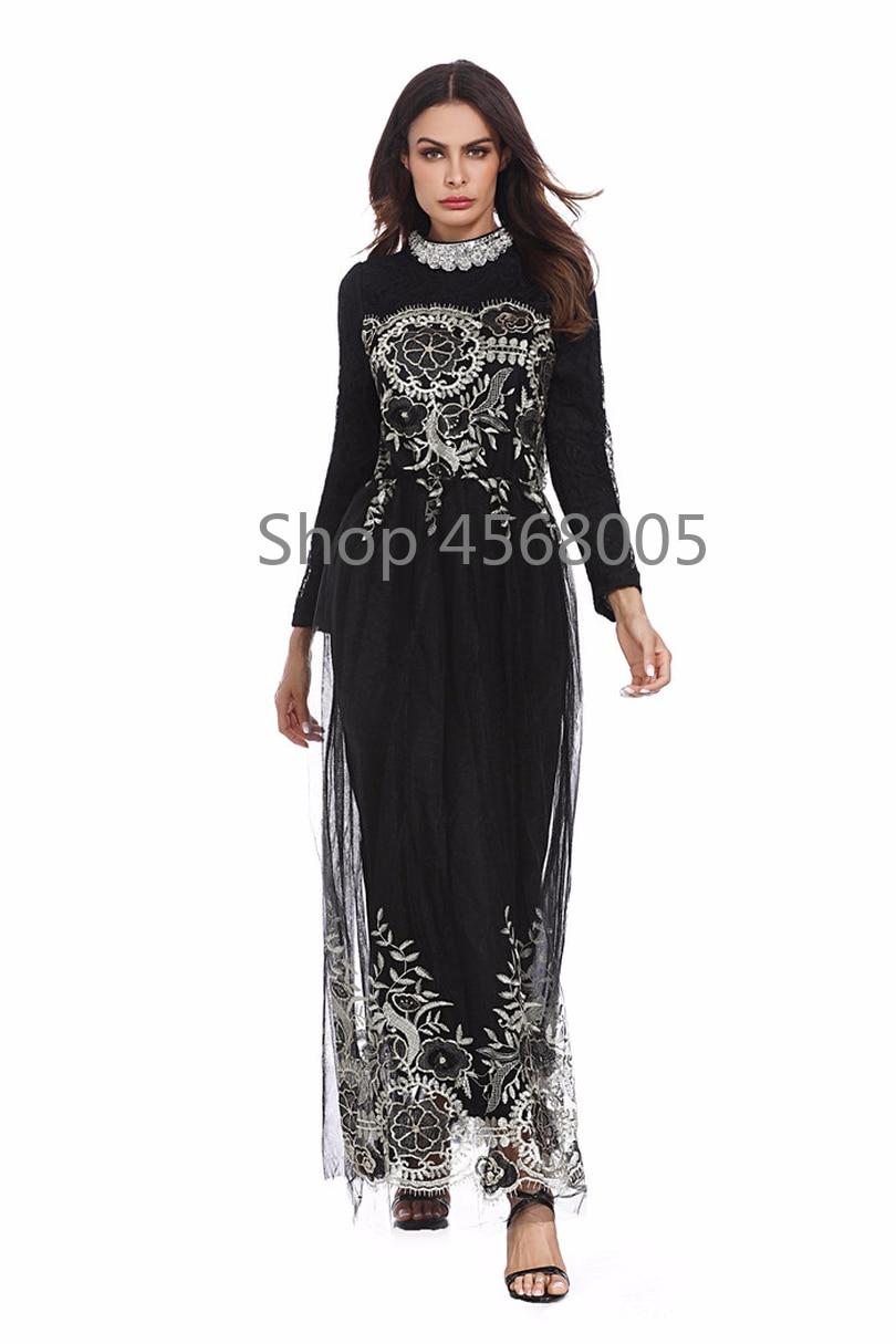 Activity & Gear Middle East Thobe Worship Service Islamic Muslim Women Lace Sequin Cardigan Maxi Dress Kimono Open Abaya Robe Kaftan Dubaiy53 Mother & Kids