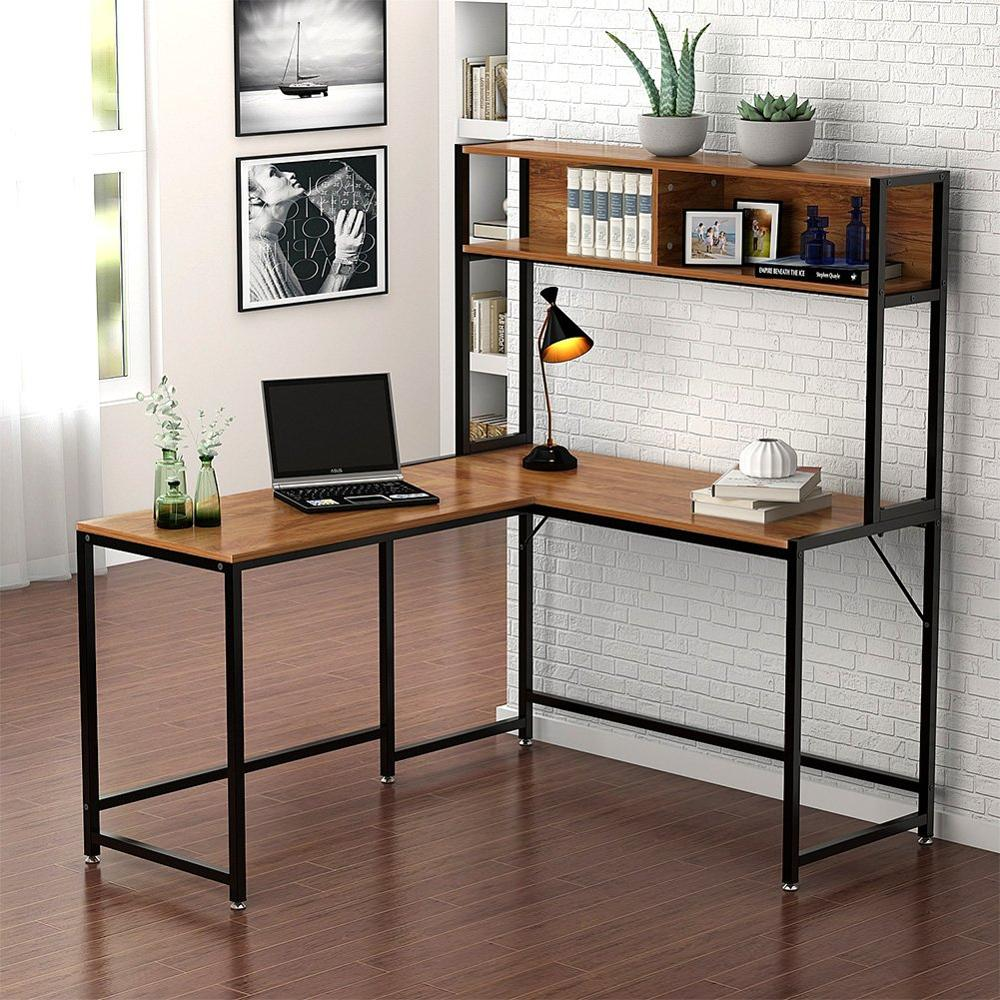 L-Shaped Desk With Hutch 55