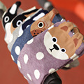 Nueva moda calcetines de algodón de impresión mujeres spots lindo perros calcetines de dibujos animados de corea del sur estilo primavera y summer