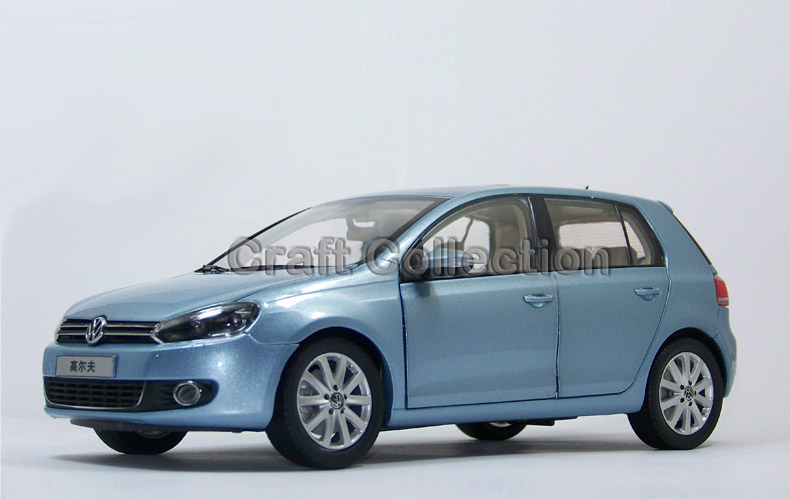 * Blue 1:18 Volkswagen VW Golf 6 Hatchback Alloy Model Diecast Show Car Classic toys Scale Models Edition Limit