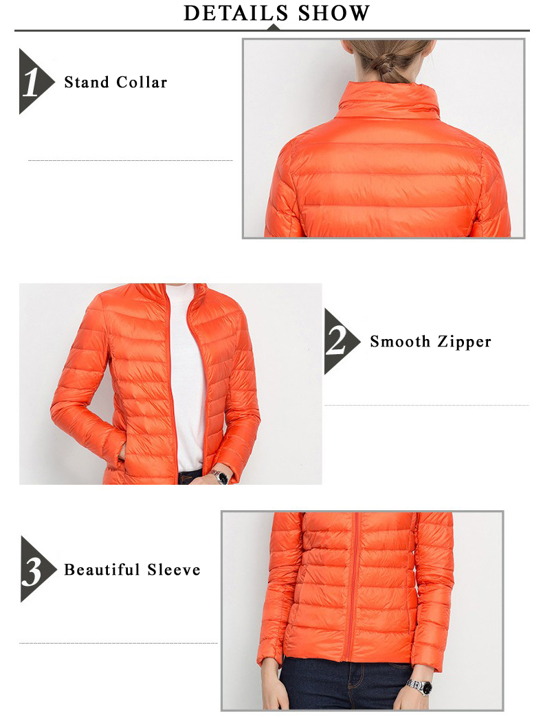 Women Portable Windproof Down Jackets/Coat