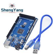 1 ensemble/lot ShengYang MEGA 2560 R3 (ATmega2560-16AU CH340G) AVR carte USB + câble USB (ATMEGA2560) pour arduino MEGA2560
