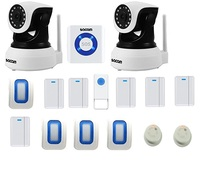 Security Camera Home Alarm System Wireless WiFi DIY Kit Voice Control by Amazon Alexa, Alarme Siren, PIR Detector,Smoke Detector