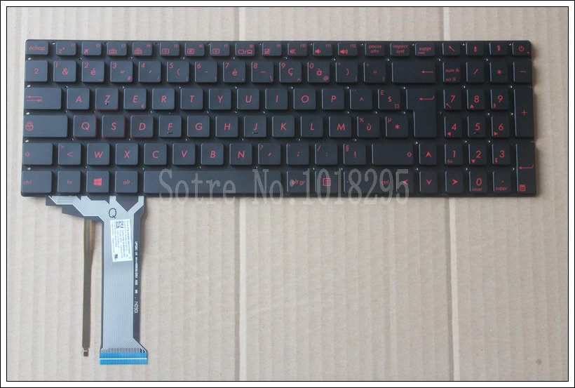 New FOR ASUS GL552 GL552J GL552JX GL552V GL552VL GL552VW  backlit French  FR  laptop keyboard black new russian ru laptop keyboard for lenovo ideapad u530 palmrest keyboard bezel cover touchpad with backlit 90204072 black