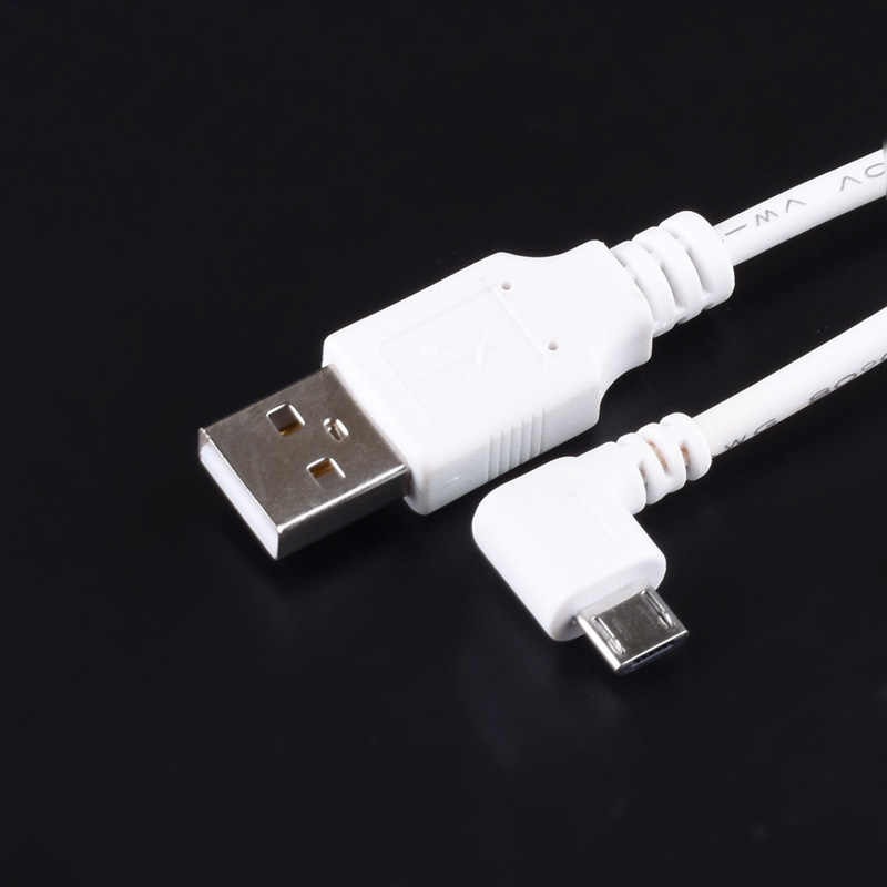 DC Power Plug זווית נכונה לבנה צורת L להמיר USB מיקרו USB ג 'ק עם כבל מחבר כבל