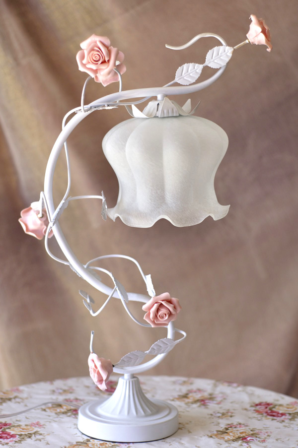 White Green Iron pink rose flower glass table lamp light lighting Vintage wedding bedroom gift E27 ZL366 xy2 limit switch xy2 ch xy2ch13270 xy2 ch13270
