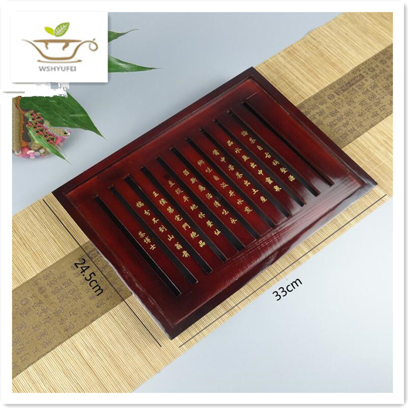 Σετ δίσκο τσαγιού από στερεό ξύλο Kung Fu τσάι αποστράγγιση αποχέτευσης κόσμο τσάι δίσκο κεραμικό δώρο χονδρικής