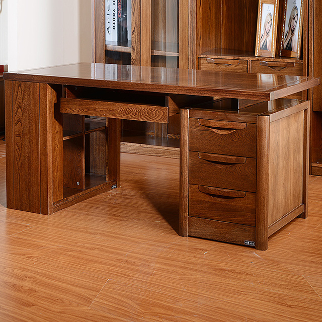 Elm Solid Wood Bedroom Furniture Imported Chinese Elm Desk Computer Home  Table