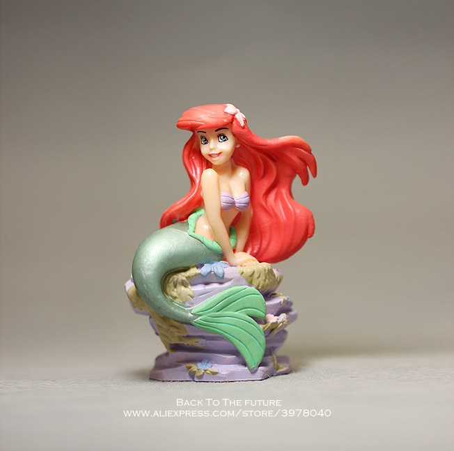 Disney Mermaid Princess Cartoon 8.5cm Mini Doll Action Figure Anime Mini Collection Figurine Toy Model For Children Gift