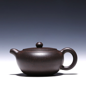 H1577 Han Jun pot about 200cc authentic Yixing famous teapot ore black steel Zhu mud special offer