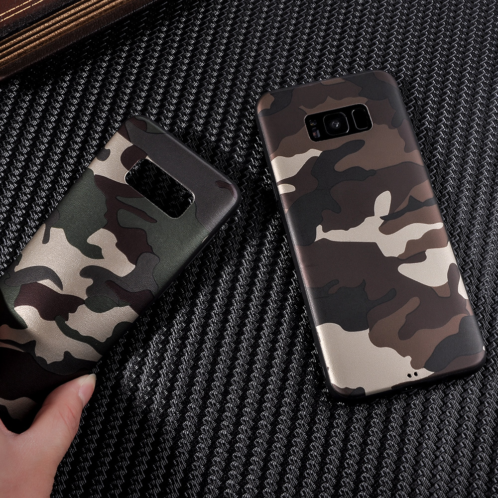 best authentic 29f84 0777d US $1.74 |Cool Army Camo Camouflage Phone Cases For Samsung Galaxy S9 S9  Plus S8 S8 Plus ArmyGreen Leather Soft TPU Cover Case -in Fitted Cases from  ...