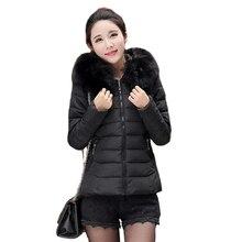 Tengo Новых Женщин Короткие Зимние Пальто Тонкий Большой Размер Мех Теплое Пальто Куртки Проложенный Верхней Одежды Пальто