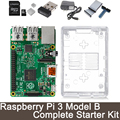Raspberry Pi 3 Model B Complete Starter Kit -- Raspberry Pi 3 Model B / transparent case / 2.5A Power supply / Wifi Adapter