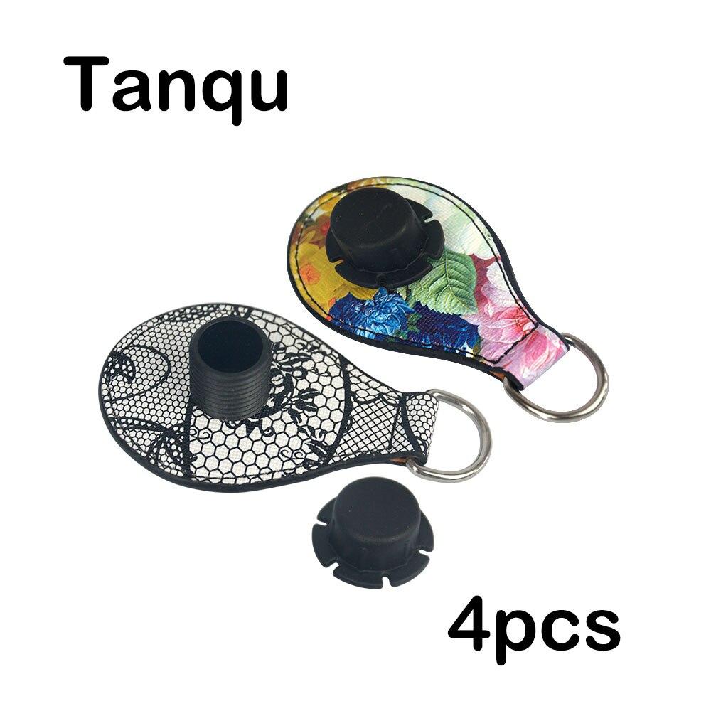TANQU 2018 New Edge Painting 2 Pair 4 Pc Shiny Drop End for Obag Handle PU Drop Attachment for O Bag Obasket DIY Women Bag цена 2017