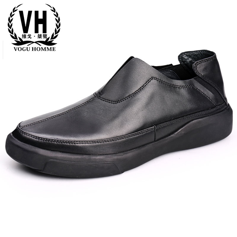 New men's shoes, spring spring and autumn shoes men real leather shoes, British reto shoes all-match cowhide Doug loafer Driving spring and autumn summer british retro men s lazy doug shoes loafer shoes men driving shoes male leisure driving casual cowhide