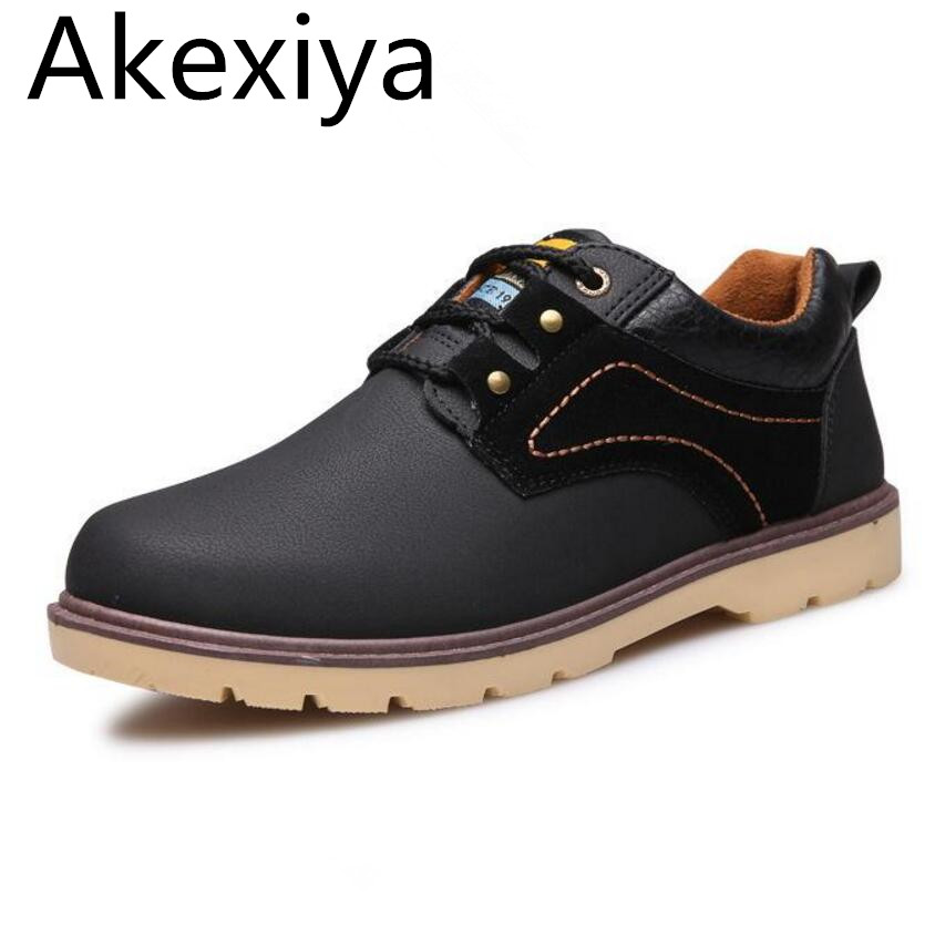 Avocado Store Akexiya New 2017 Hot Selling Men Shoes Leather Casual Lace Up Fur Cheap High Quality Men Oxford Dress Shoes