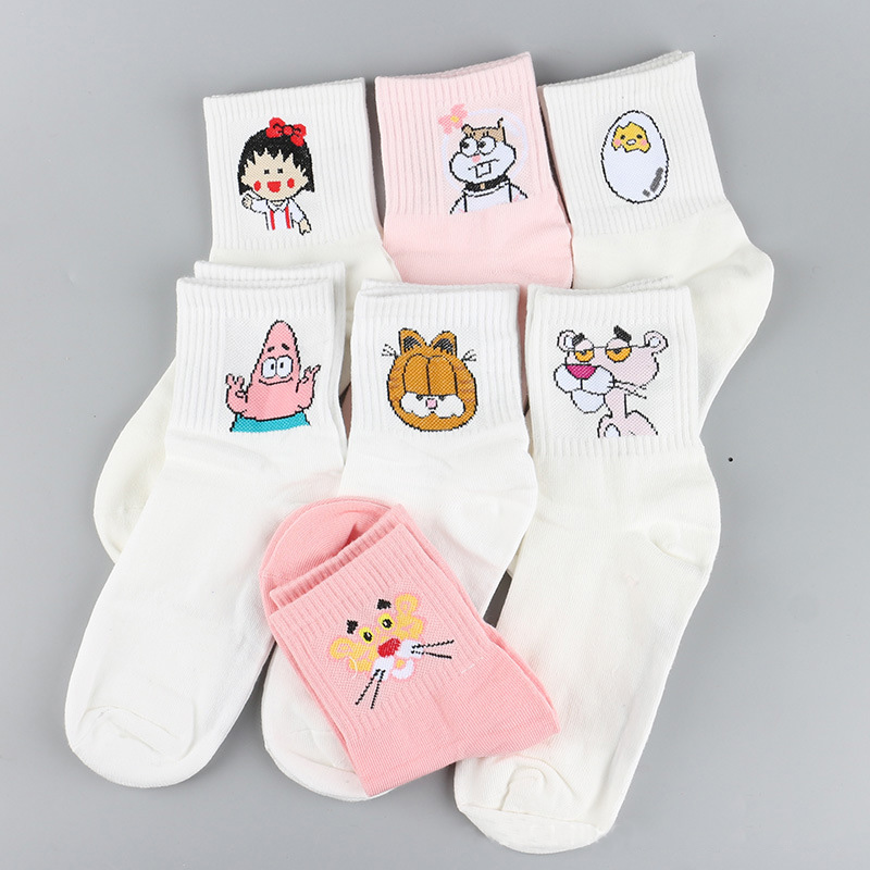 7Pairs Happy Socks Cotton Brand Harajuku