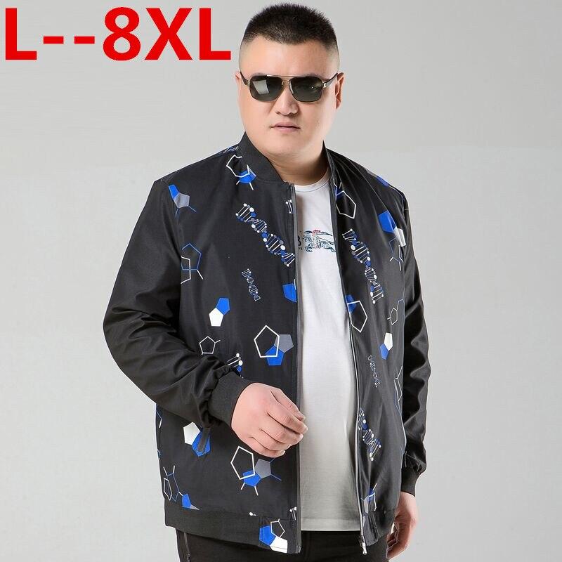 Plus 10XL 8XL 6XL 5XL 4XL nouveau 2019 veste hommes décontracté lâche hommes veste Sportswear Bomber veste hommes vestes et manteaux