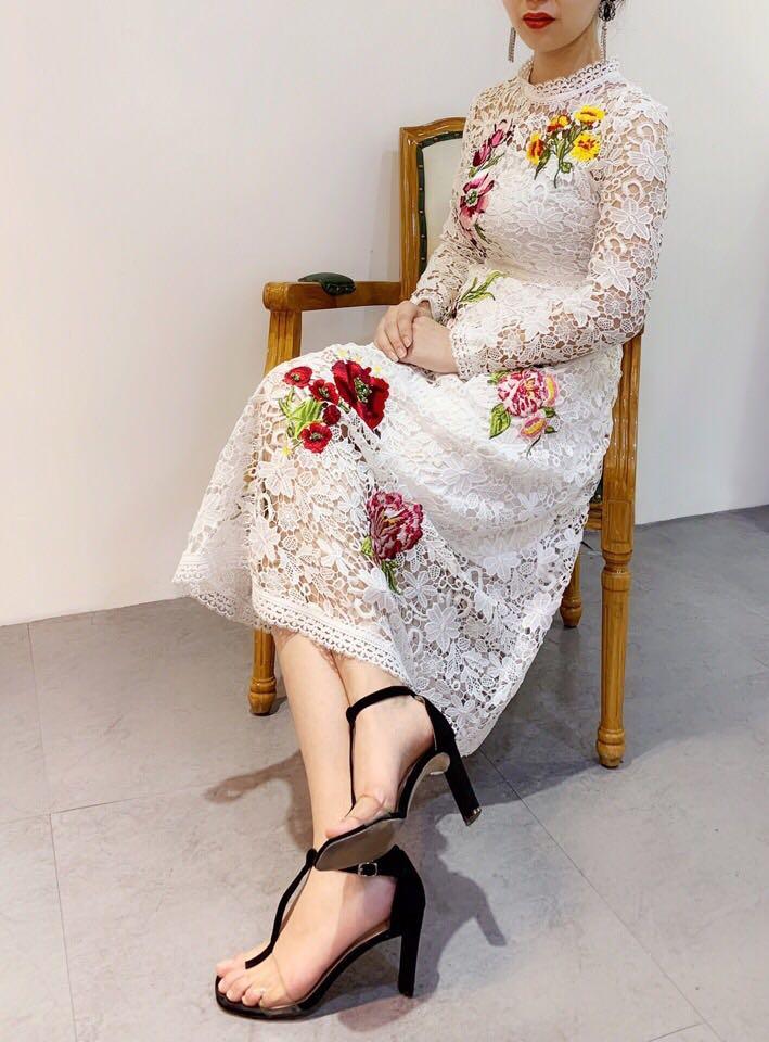 blanc Design Printemps Marque Femmes Mode Qualité De Noir Luxe Partie 2019 Style Robe Fa01833 Supérieure Nouvelle Européenne HaTBq