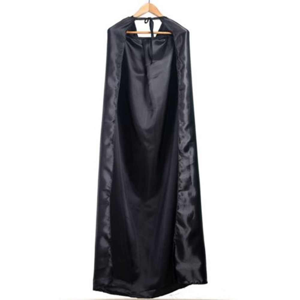 Wholesale New Black Halloween Costume Theater Prop Death Hoody Cloak Devil Long Tippet Cape Cosplay