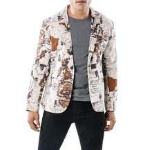 Модный Блейзер мужские костюмы дизайн двух цветов морской таблицы