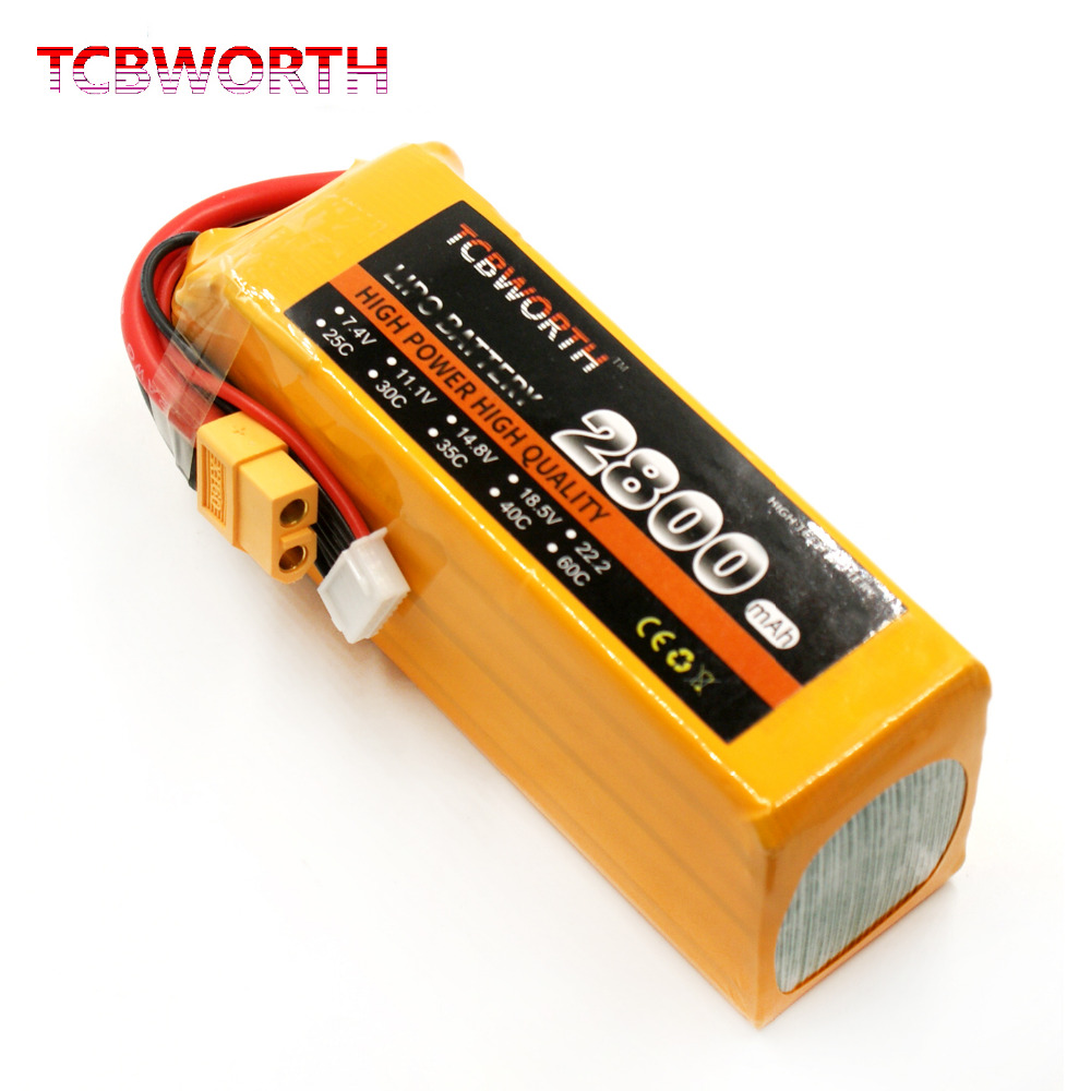 TCBWORTH 6S RC Airplane Lipo Battery 22.2V 2800mAh 30C For RC Quadrotor Helicopter Drone Li-ion battery tcbworth rc helicopter lipo battery 6s 22 2v 2800mah 60c max 120c for rc airplane quadrotor drone li ion battery