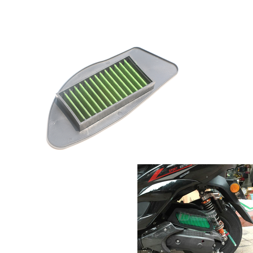 Motorbike Scooter Air Filter Bent Neck Tube Gauze Air Filter Intake Filter Cleaner For Yamaha NXC 125 Cygnus X 04-15  5TY-E4451 motorbike scooter cnc aluminum alloy rotatable spinable cooling fan cap cover protector guard for yamaha bws x 125 cygnus 125