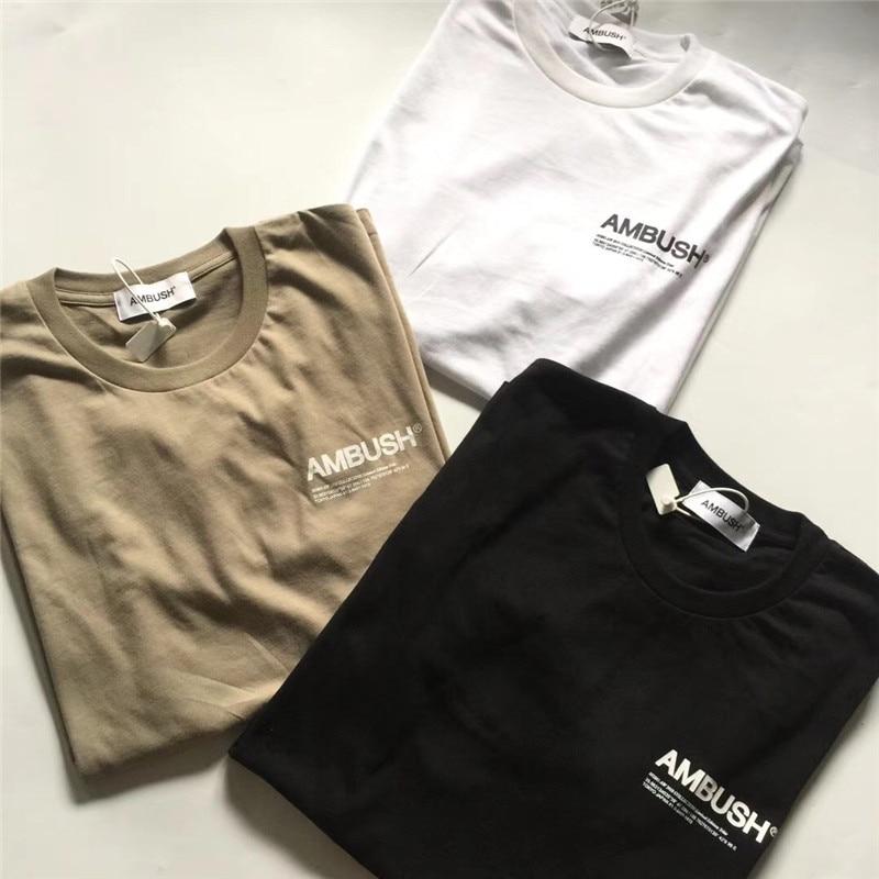 AMBUSH T-shirt Wen 1:1 Height Quality Solid T Shirts Tees Hip Hop AMBUSH Cotton T Shirt