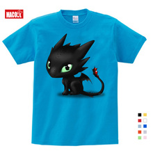 2019 Summer Black Dragon T-shirt Toothless Tops Men T Shirt t Vintage Clothing Cotton Kids Funny T-shirts white red 3T4T5T6T7T8T