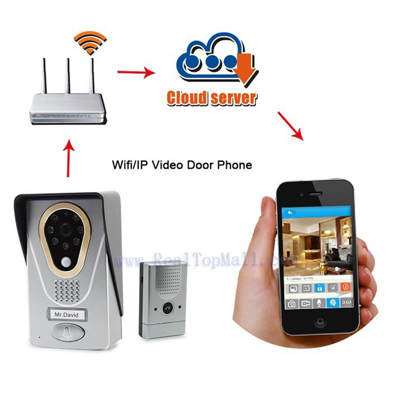 WIFI Wireless Doorbell Video Intercom Security Camera Video Door Phone for Android
