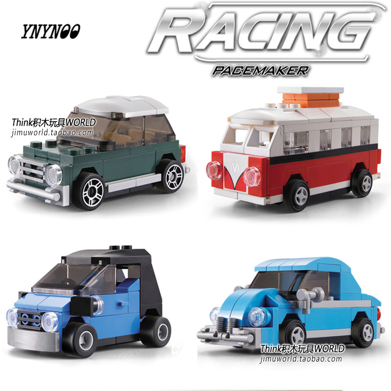 YNYNOO Technic City Creator mini Volkswagen Camper Van Building Blocks Bricks Model Kids Toys Marvel Compatible Lepin 21003 lepin city creator 3 in 1 beachside vacation building blocks bricks kids model toys for children compatible with lego gift kid