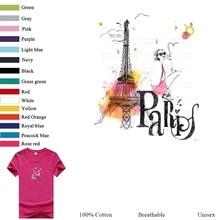 Eiffel Tower T-Shirt Funny Oversized Solid Top Gray Breathable Street Wear Tshirt Women Harajuku Fashion Tops Female 3Xl Tee ботинки высокие женские palladium pallabrouse cml gray spa eiffel tower