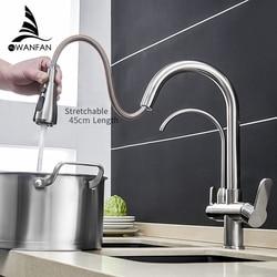 Keuken Kranen Torneira Para Cozinha De Parede Kraan Voor Keuken Water Filter Tap Drie Manieren Sink Mixer Keuken Kraan WF-0195